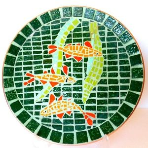 Mid Century Modern Mosaic Tile Plate